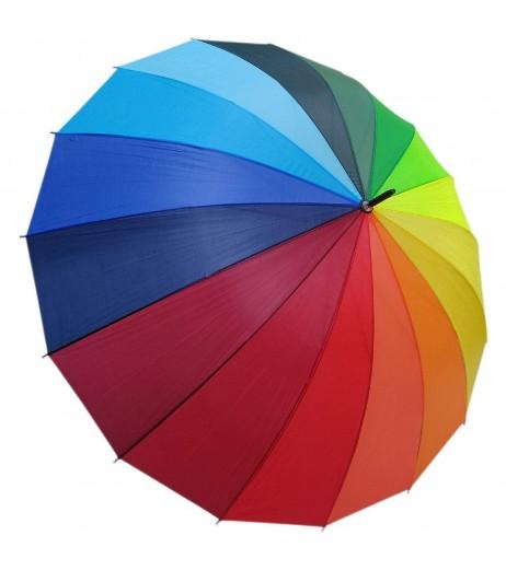 Vibgyor Rainbow Umbrella Big Size Nylon Material