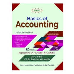 Padhukas Basics Of Accounting For CA Foundation 2020 by CA.
