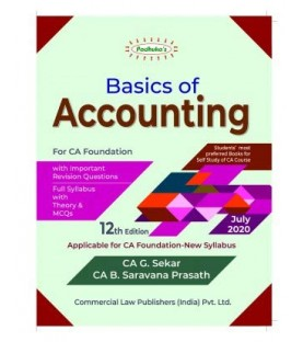 Padhukas Basics Of Accounting For CA Foundation 2020 by CA. G. Sekar, CA. B. Saravana Prasath
