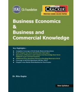 Taxmann Cracker CA foundation Business Economics and Business and Commercial Knowledge