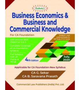 Padhuka Business Economics and Business and Commercial Knowledge New Syllabus for CA Foundation
