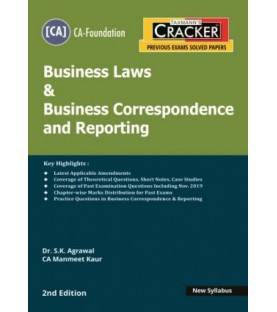Taxmann Cracker CA foundation Business Laws and Business correspondence and Reporting