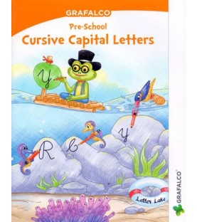 Grafelco PreSchool Cursive Capital Letters book