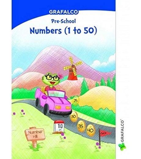 Grafelco PreSchool Number 1 to 50 Letters book