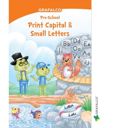 Grafelco PreSchool Print Small and Capital Letters book