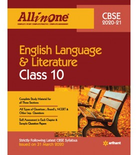 CBSE All in One English Language And Literature Class 10 2020-21