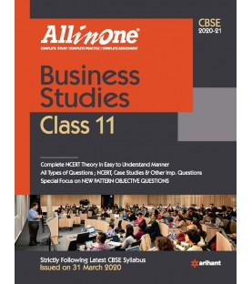 CBSE All in One Business Studies for CBSE Class 11   Latest Edition