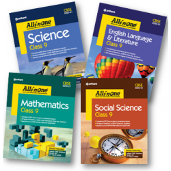 All In One Set of 4 Books English,SS,Sci.,Math For Class 9