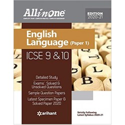 All in One ICSE English Language (Paper-I) Class 9 and 10