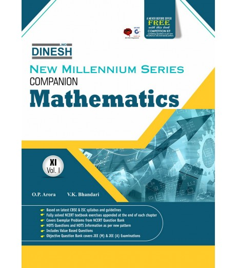 Dinesh New  Millennium Companion Mathematics Class 11 Vol-1 and 2 -2019-20