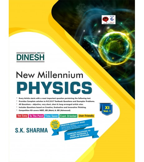 Dinesh New  Millennium  Physics Class 11 Vol-1 and 2 -2020-21