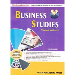 Subhash Dey  Business Studies for Class 12 (2019-2020)