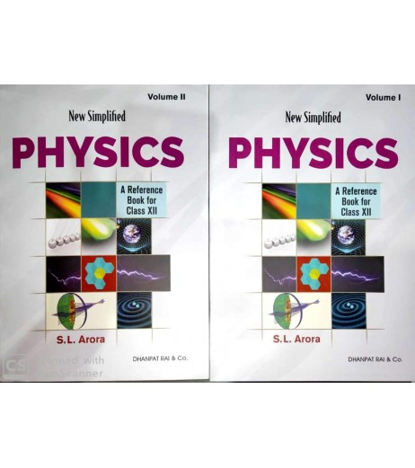 New Simplified Physics S..L. Arora  Book for Class 12 2020-21 Set of 2 Books