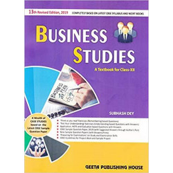 Business Studies for Class 12 Subhash Dey (2019-2020)