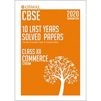 Oswal CBSE 10 Last Years Solved Papers -Commerce Class 12