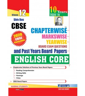 Shiv Das CBSE Chapterwise Markswise Yearwise Board Exam Questions Bank Class 12 English Core ( 2020 Exam)