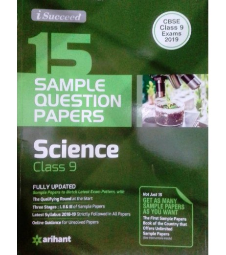 15 Sample Question Paper Science Class 9 CBSE