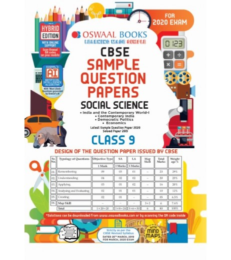 Oswaal CBSE Sample Question Paper Class 9 Social Science For 2020 Exam
