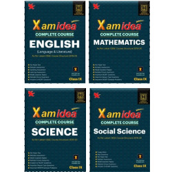 Xam idea CBSE Set of 4 Books Math,Sci.,SS & English Class 9