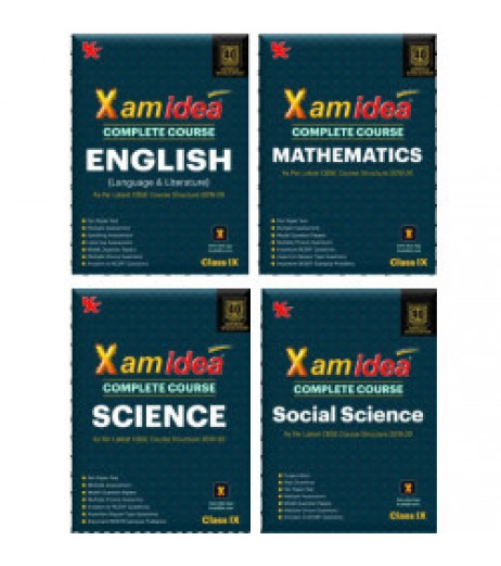Xam idea CBSE Set of 4 Books Math,Sci.,SS & English Class 9 2019-20