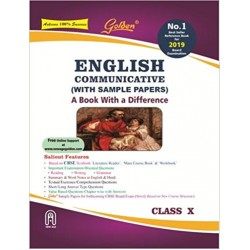 Golden English Communicative (with Sample Papers): A Book with Difference Class - 10