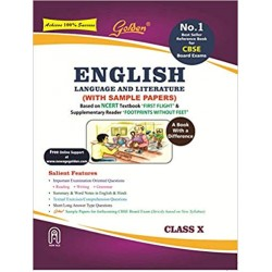 Golden English Language and Literature: (With Sample Papers) A book with a Differene for Class - 10