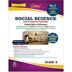 Golden Social Science: (With Sample Papers) A book with a