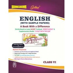 Golden® English (With Sample Papers): A Book With A Difference for Class VI