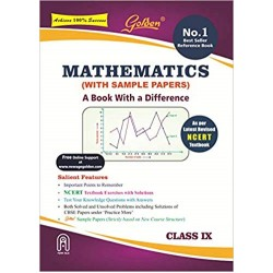 Golden Mathematics: (With Sample Papers) A book with a