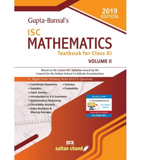 Gupta Bansal's ISC Mathematics : A Textbook For Class 11 Vol-2by V. K. Gupta , A. K. Bansal