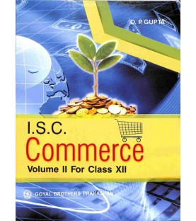 ISC Commerce Volume II for Class 12by O. P. Gupta