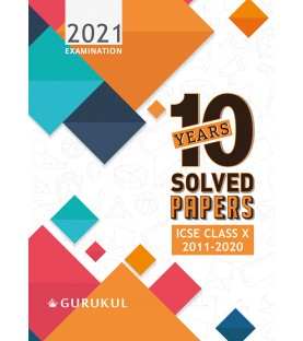 Oswal ICSE 10 Years Solved Papers For Class X (For 2021 Exam)