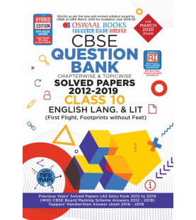 Oswaal CBSE Question Bank Class 10 English Language & Literature Chapterwise & Topicwise (For March 2020 Exam