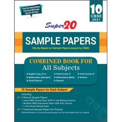 Super 20 Sample Papers CBSE 2021 Class 10 Combined Book