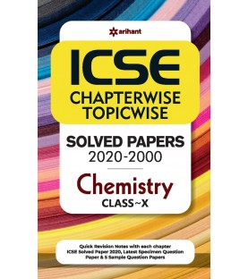 ICSE Chapterwise Topicwise Solved Papers Chemistry Class 10 for 2021 Exam