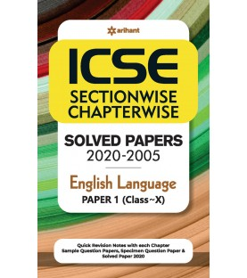 ICSE Chapterwise Topicwise Solved Papers English Language Paper 1 Class 10 for 2021 Exam