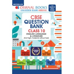 Oswaal CBSE Question Bank Class 10 English Language and Literature For March 2021 Exam