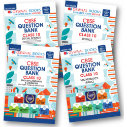 Oswaal CBSE Question Bank Class 10 Bundle Set of 4 Books (Social Science, Science, Mathematics and English)  2020-21