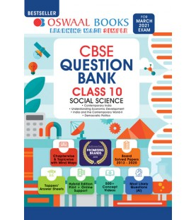 Oswaal CBSE Question Bank Class 10 Social Science For March 2021 Exam