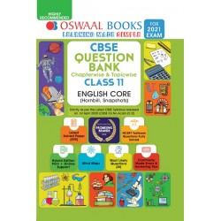 Oswaal CBSE Question Bank Class 11 English Core Chapterwise and Topicwise (For March 2021 Exam)