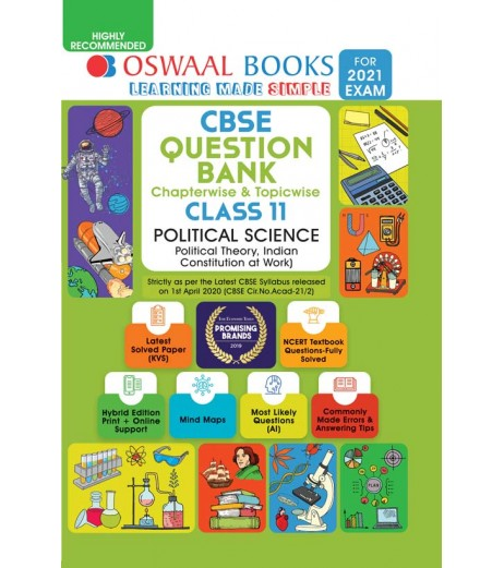 Oswaal CBSE Question Bank Class 11 Political Scienec Chapterwise and Topicwise (For March 2021 Exam)