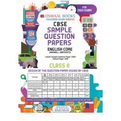 Oswaal CBSE Sample Question Papers Class 11 English Core