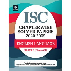ISC Chapterwise Solved Papers English Language Paper 1