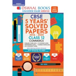 Oswaal CBSE 5 Years' Solved Papers, Science (PCMB) 2020-21