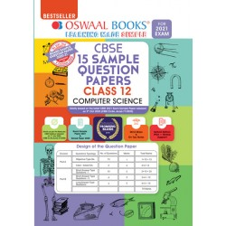 Oswaal CBSE Sample Question Papers Class 12 Computer