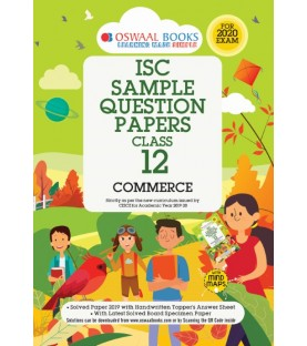 Oswaal ISC Sample Question Papers Class 12 Commerce Book For 2020 Exam