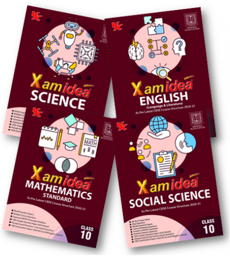 Xam idea Class10 Combo Pack -English,Sci.,S.S.and Maths.for 2020-21