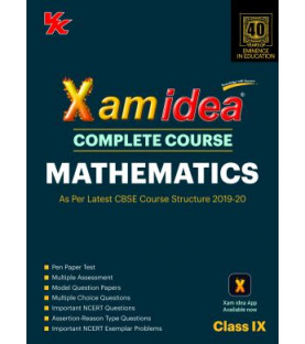 Xam idea CBSE Mathematics Class 9  2019-20