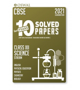Oswal CBSE 10 Last Years Solved Papers -Science Stream(PCB) Class 12 for 2021 Exam
