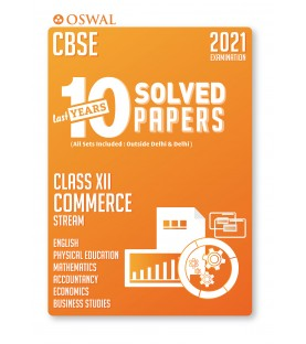 Oswal CBSE 10 Last Years Solved Papers -Commerce Class 12 for 2021 Exam